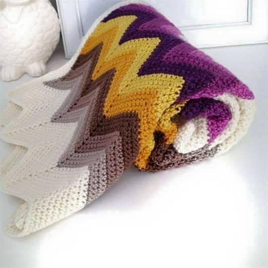 Patron #1423: Manta a Crochet