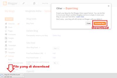 cara export blog