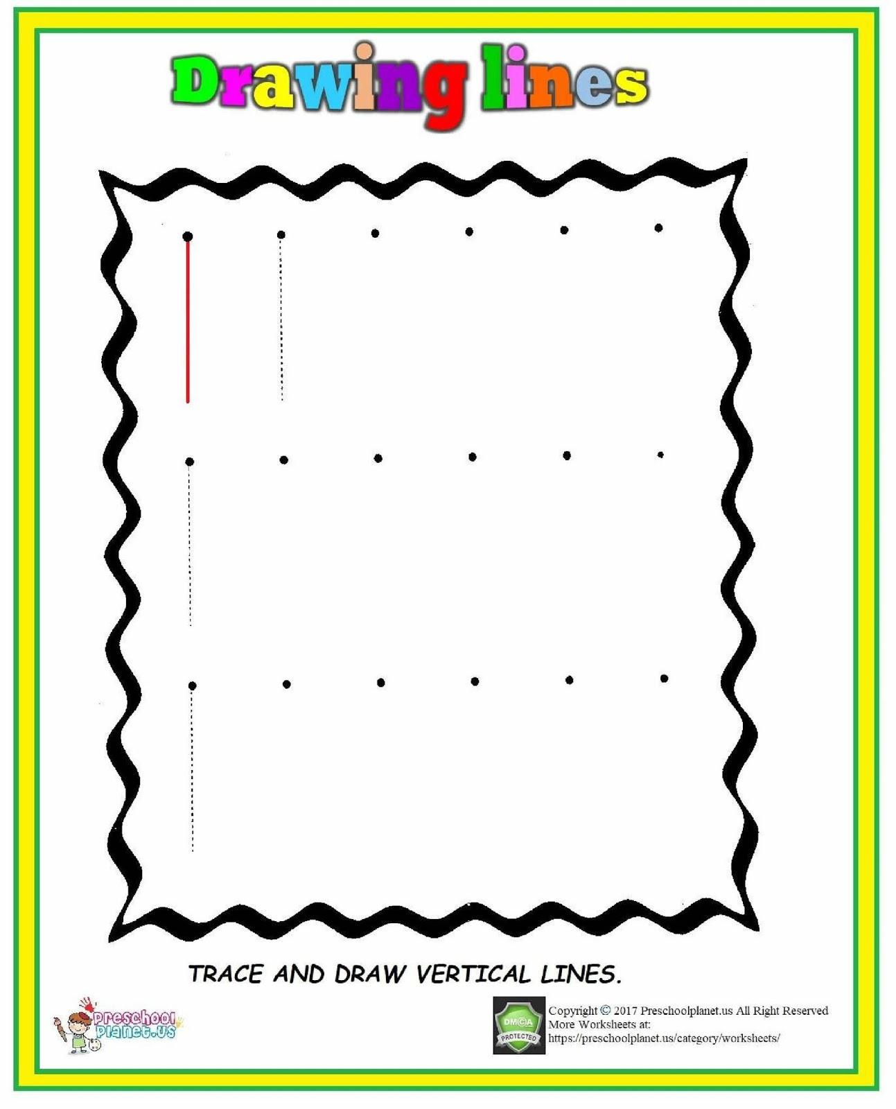 Vertical Line Worksheet