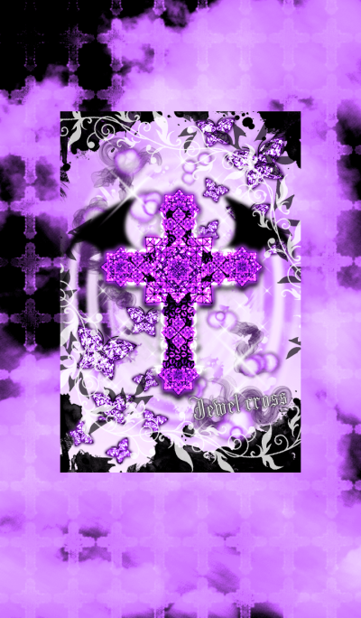 Jewel cross -Devil's lilac-