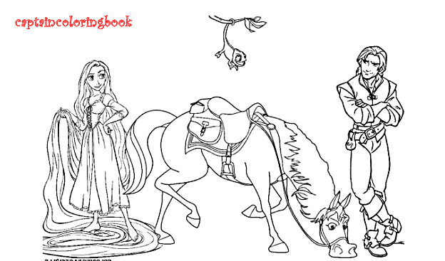 Tangled Coloring Pages free download - Coloring Page