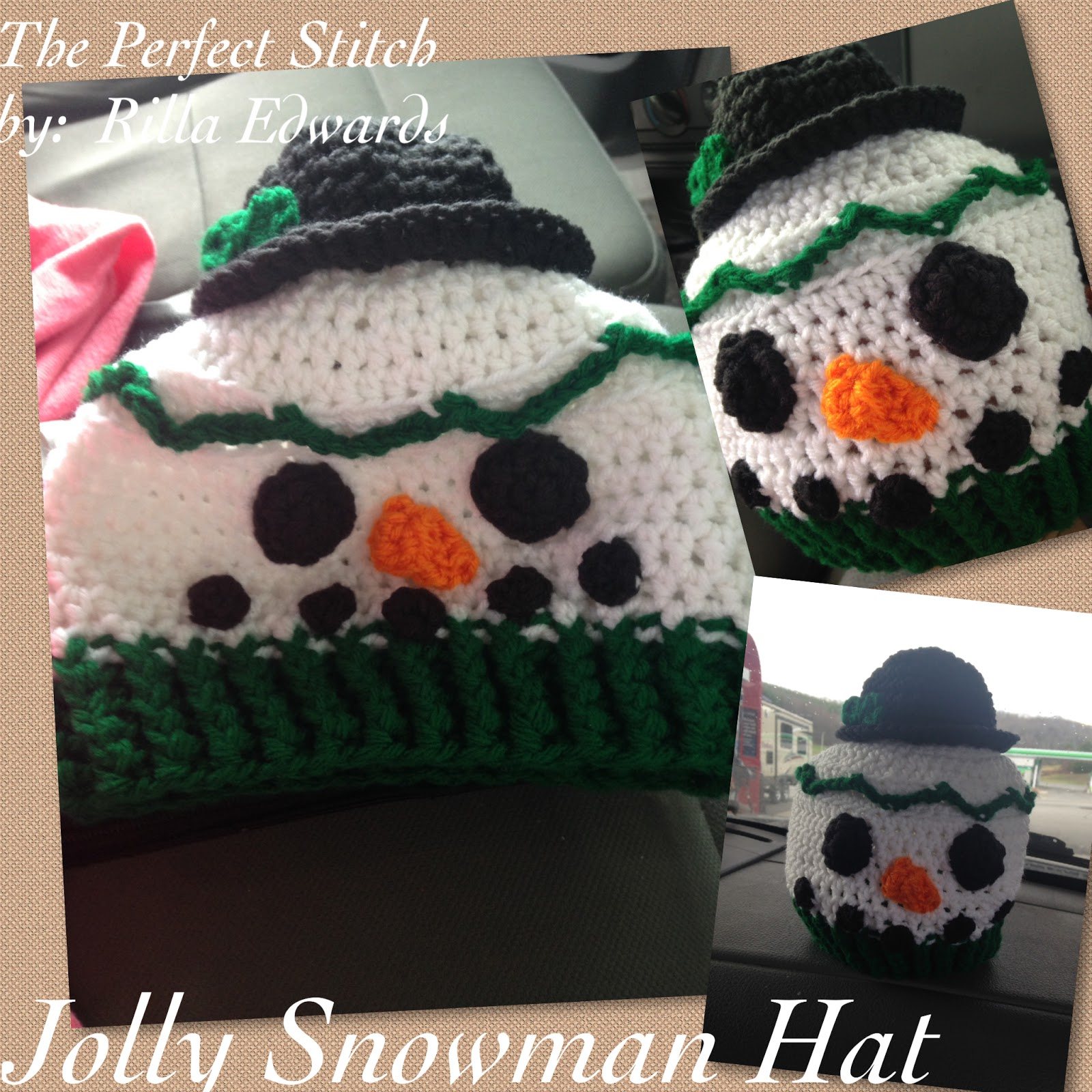 The Perfect Stitch...: Jolly Snowman Hat