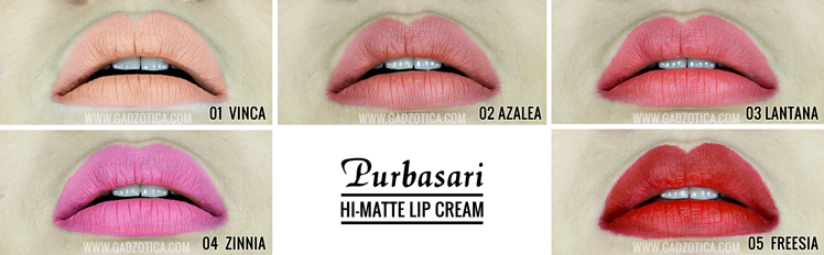 Purbasari Hi-Matte Lip Cream Swatch