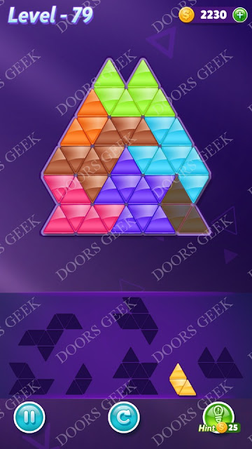 Block! Triangle Puzzle Advanced Level 79 Solution, Cheats, Walkthrough for Android, iPhone, iPad and iPod