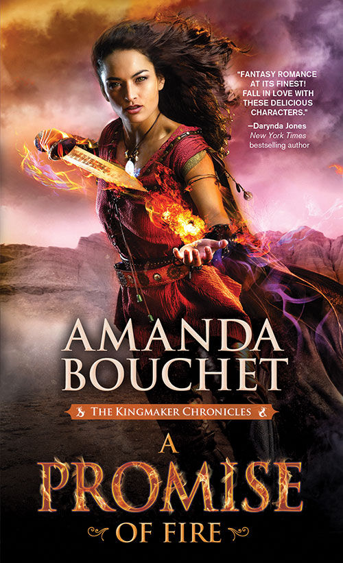 2016 Debut Author Challenge Update - A Promise of Fire by Amanda Bouchet