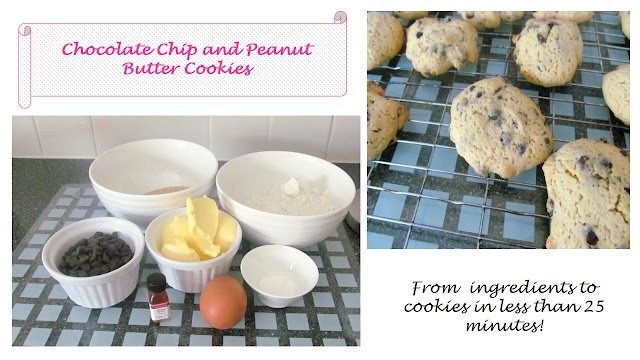chocolate chip and peanut butter cookies recipe
