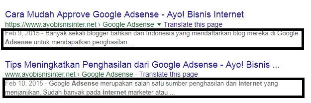 membuat meta description seo