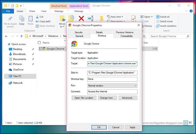 Set-Shortcut-key-option-in-Windows-Program-properties