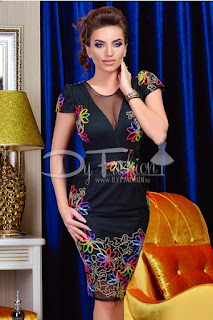 Rochie Colorful Right Black
