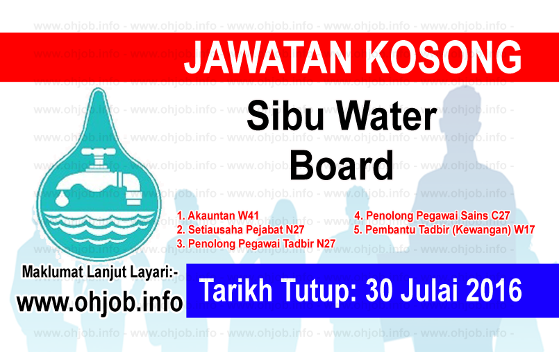 Jawatan Kerja Kosong Sibu Water Board logo www.ohjob.info julai 2016