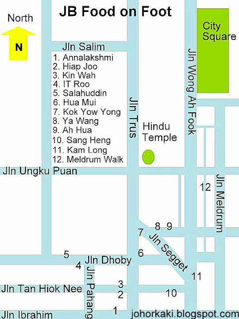 Sketch map of downtown JB