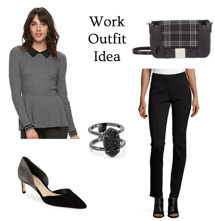 office appropriate winter outfit idea