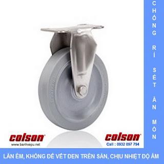 Bánh xe cao su càng bánh xe đẩy inox   2-4408-444   www.banhxepu.net