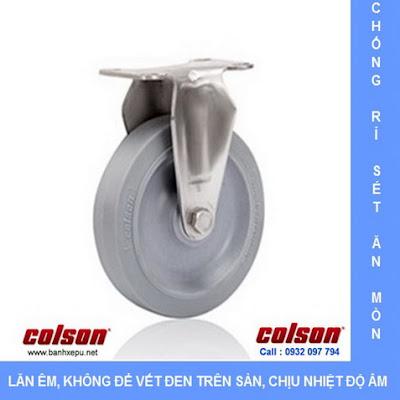 Bánh xe cao su càng bánh xe đẩy inox | 2-4408-444 | www.banhxepu.net