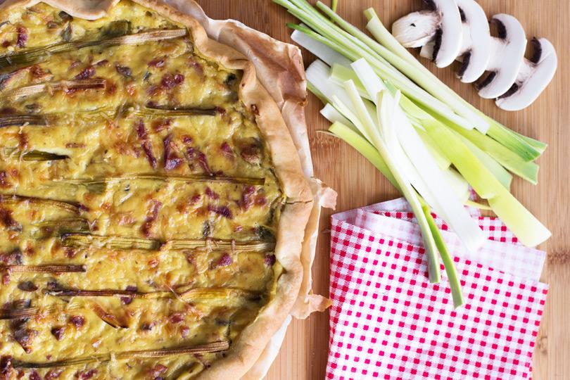 recette Tarte poireaux béchamel curry