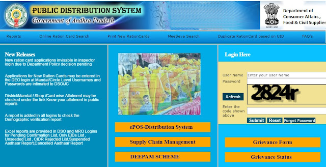 Andhra Pradesh Ration Card Application Form