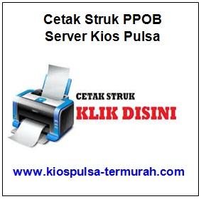 Cetak Struk Token PPOB Server Kios Pulsa