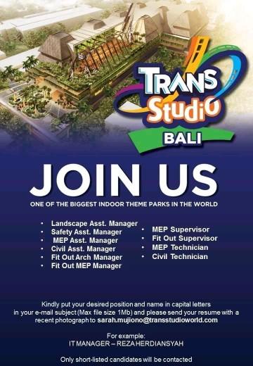 Lowongan kerja Trans Studio Bali bagian 2 2018