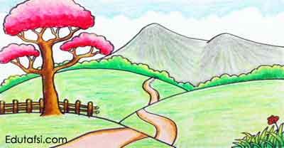 Belajar menggambar pemandangan alam berupa padang rumput memakai cat oil pastels untu CARA MENGGAMBAR PEMANDANGAN PADANG RUMPUT UNTUK PEMULA