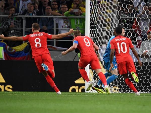 Inglaterra sacó a Colombia en los penales