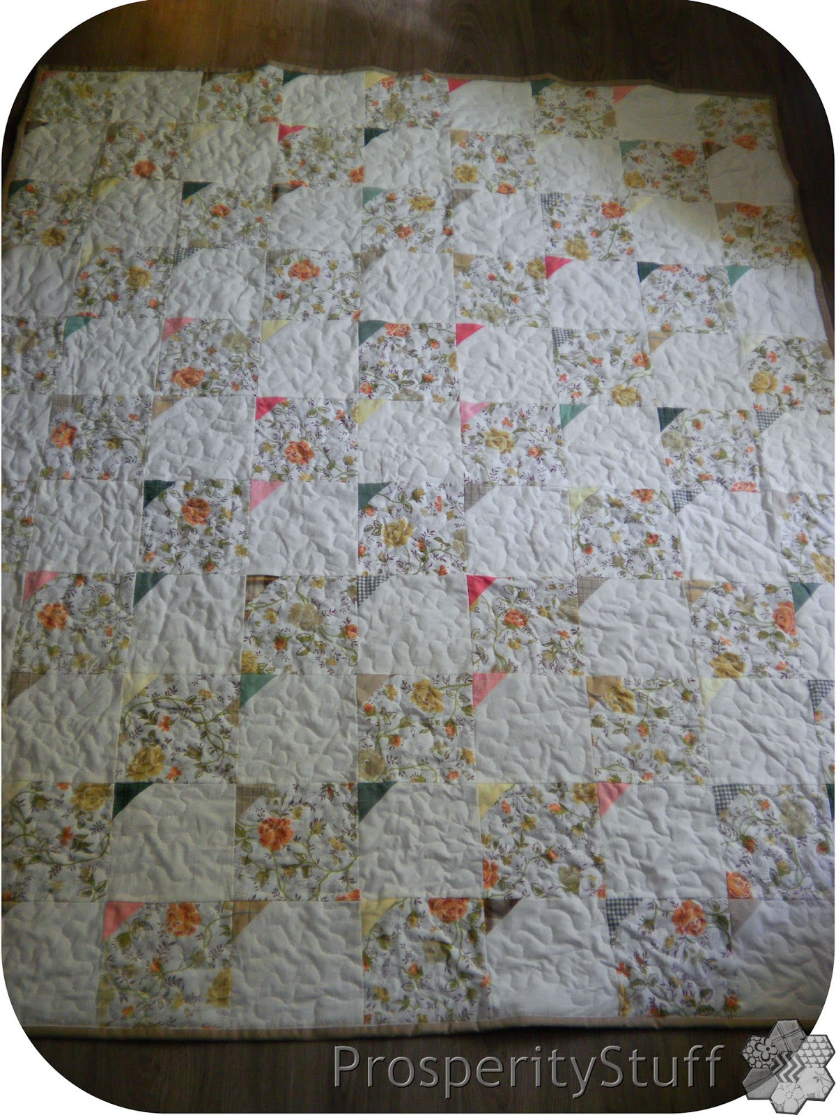 Prosperitystuff Quilts Vintage Sheets In A Quilt