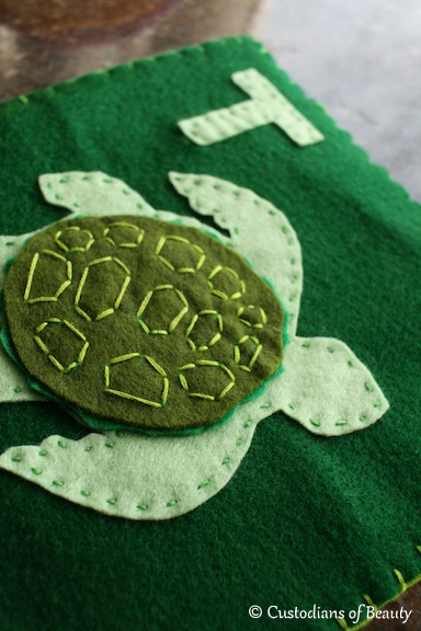 ABC Animal Quiet Book Pages | T for Turtle | by CustodiansofBeauty.blogspot.com