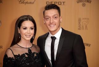 Mesut Ozil and his wife Mandy Capristo