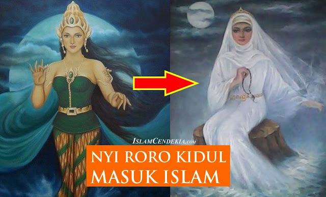 Penampakan Nyi Roro Kidul Masuk Islam Ratu Laut Selatan