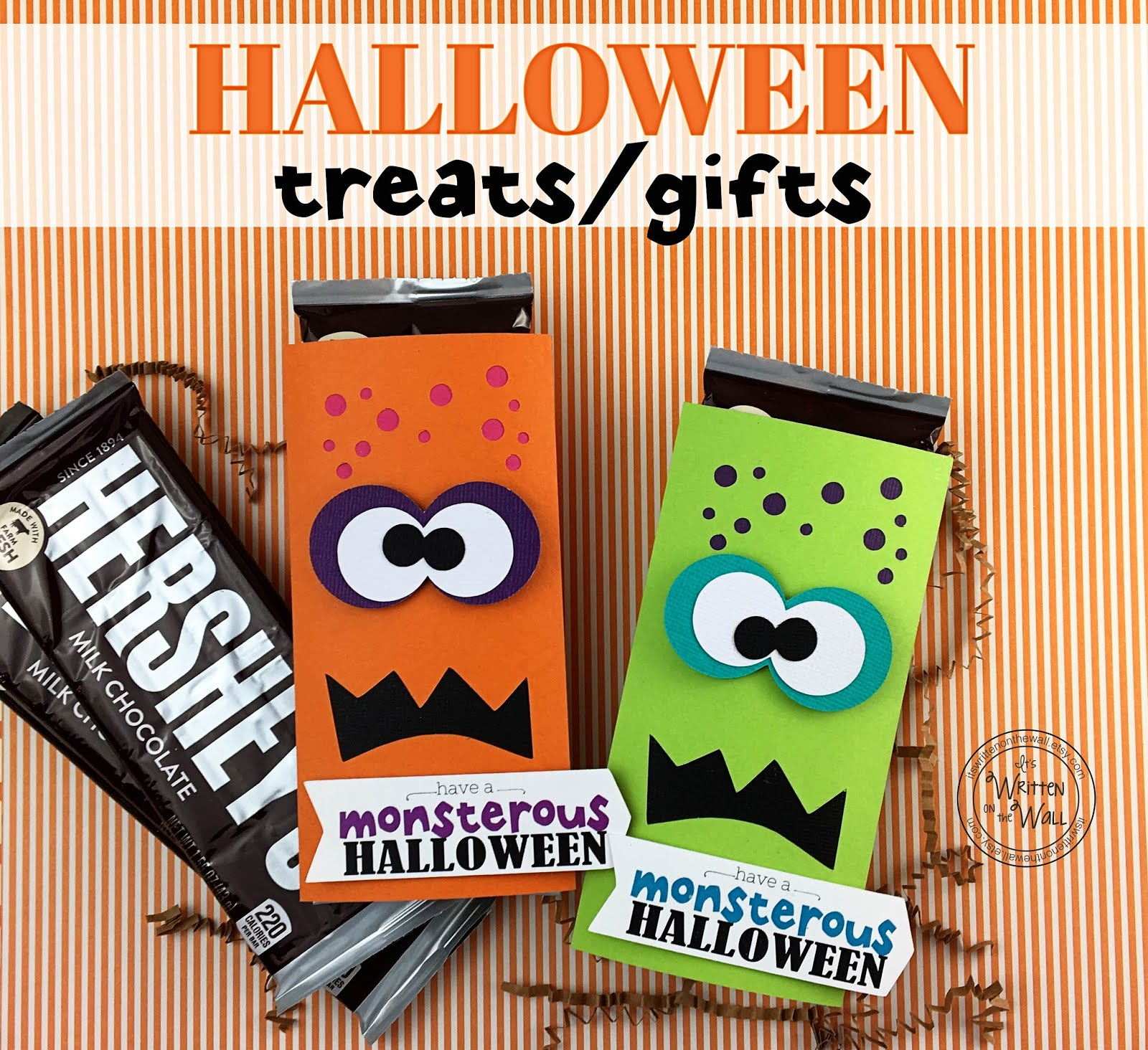 Monsterous Halloween Candy Bar Wrappers