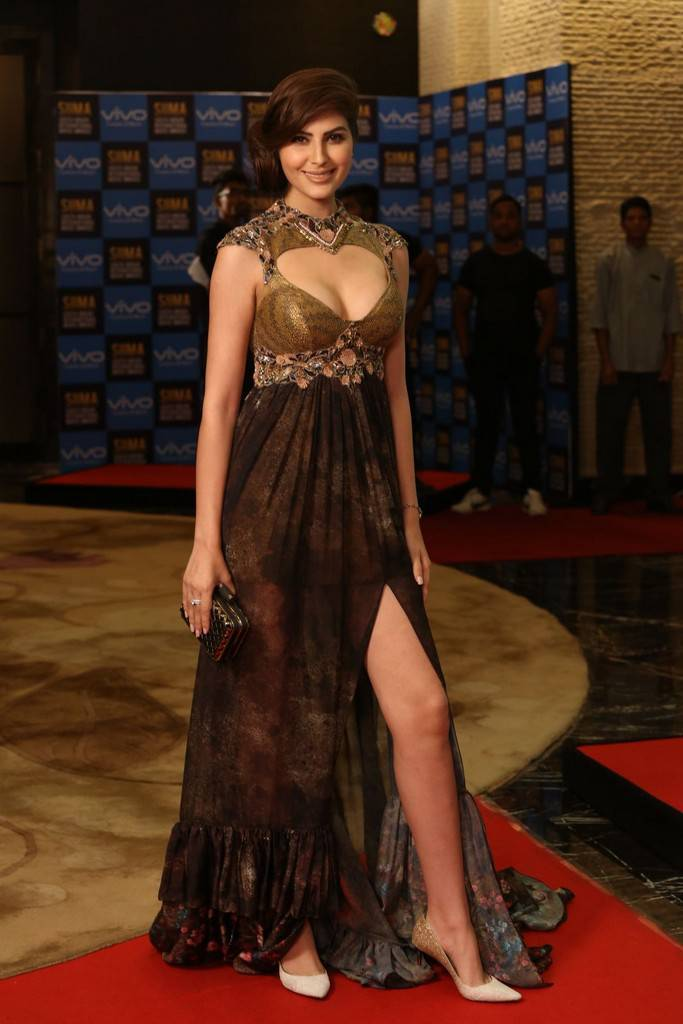 Indian Girl Naaz Norouzi Stills At SIIMA Short Film Awards 2017