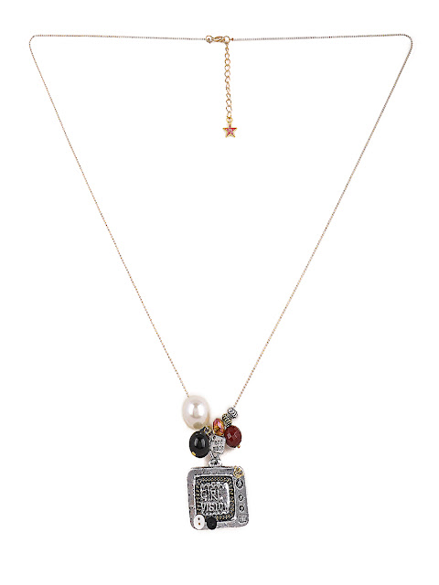 8969 #necklace #silver #beads #charms #tvpendant #girlpower Rs.998