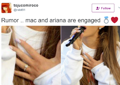 q - Ariana Grande engaged? Singer flashes sparkler at One Love Manchester supported by boyfriend Mac Miller