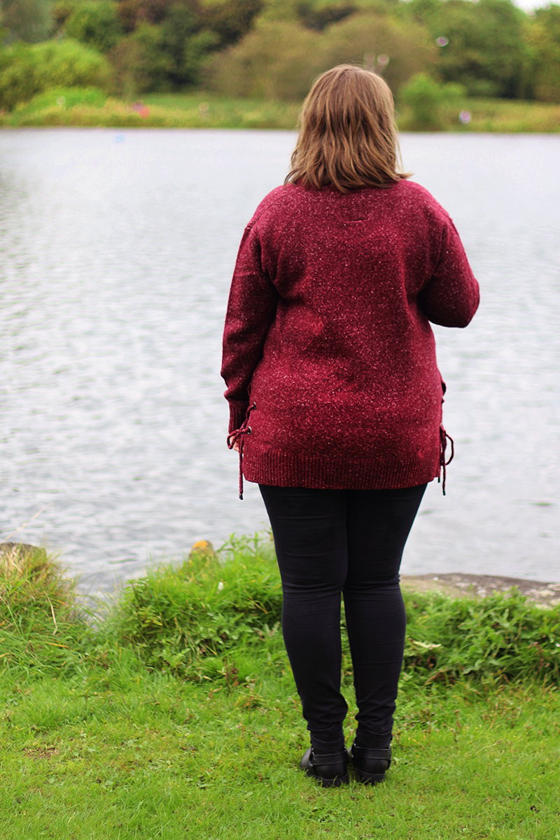 Autumn/winter outfit featuring the Falmer V Neck Jumper from Matalan