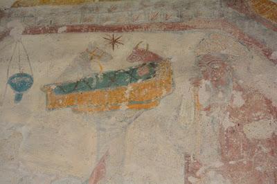 Nativité : Jésus entre le bœuf et l'âne