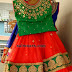Red Lehenga Kundan Green Blouse