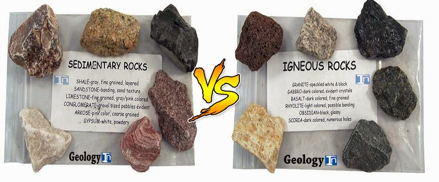 Top 7 Differences Between Sedimentary Rocks And Igneous Rocks