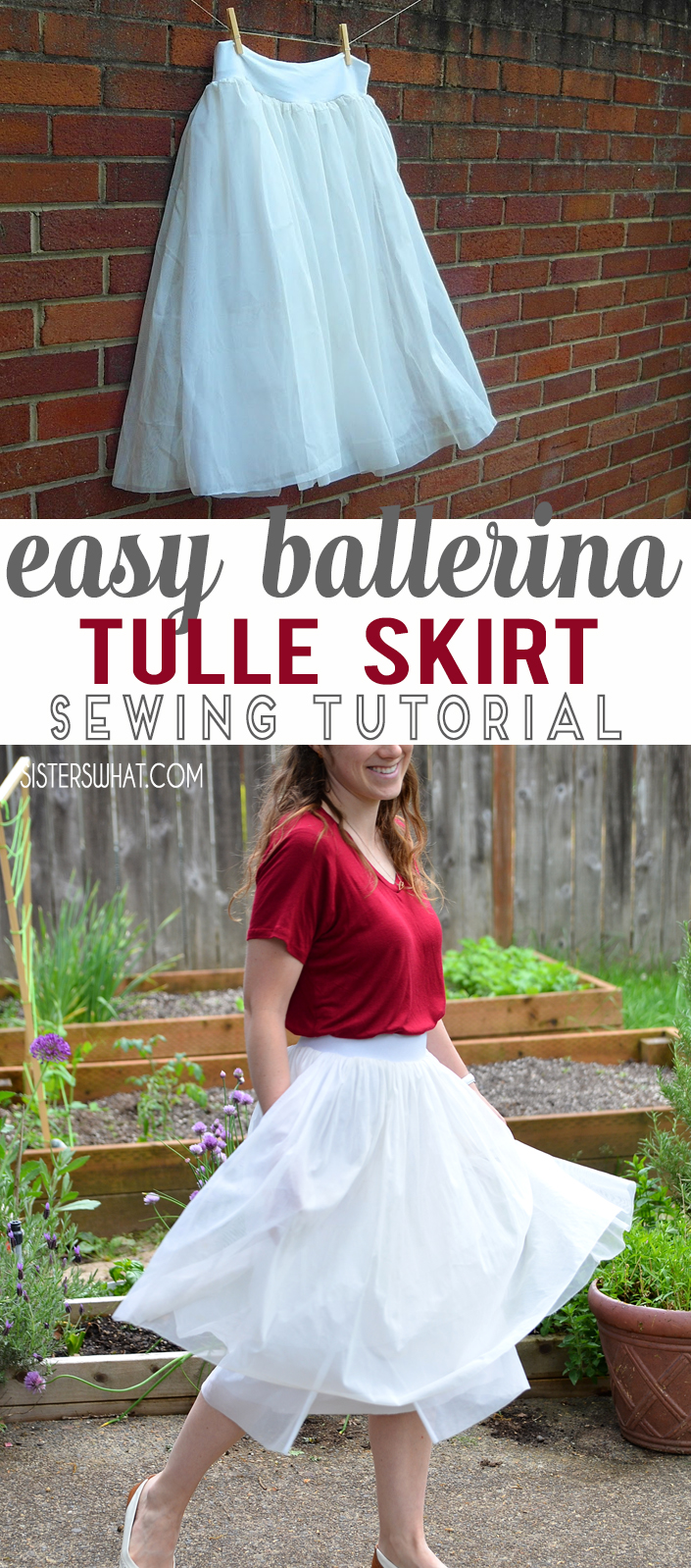 This fancy skirt is a easy refashion from chiffon curtains. An easy sewing tutorial.