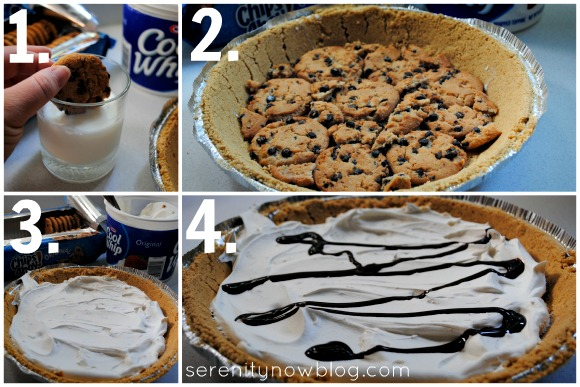 chocolate chip, cookie, pie, no bake