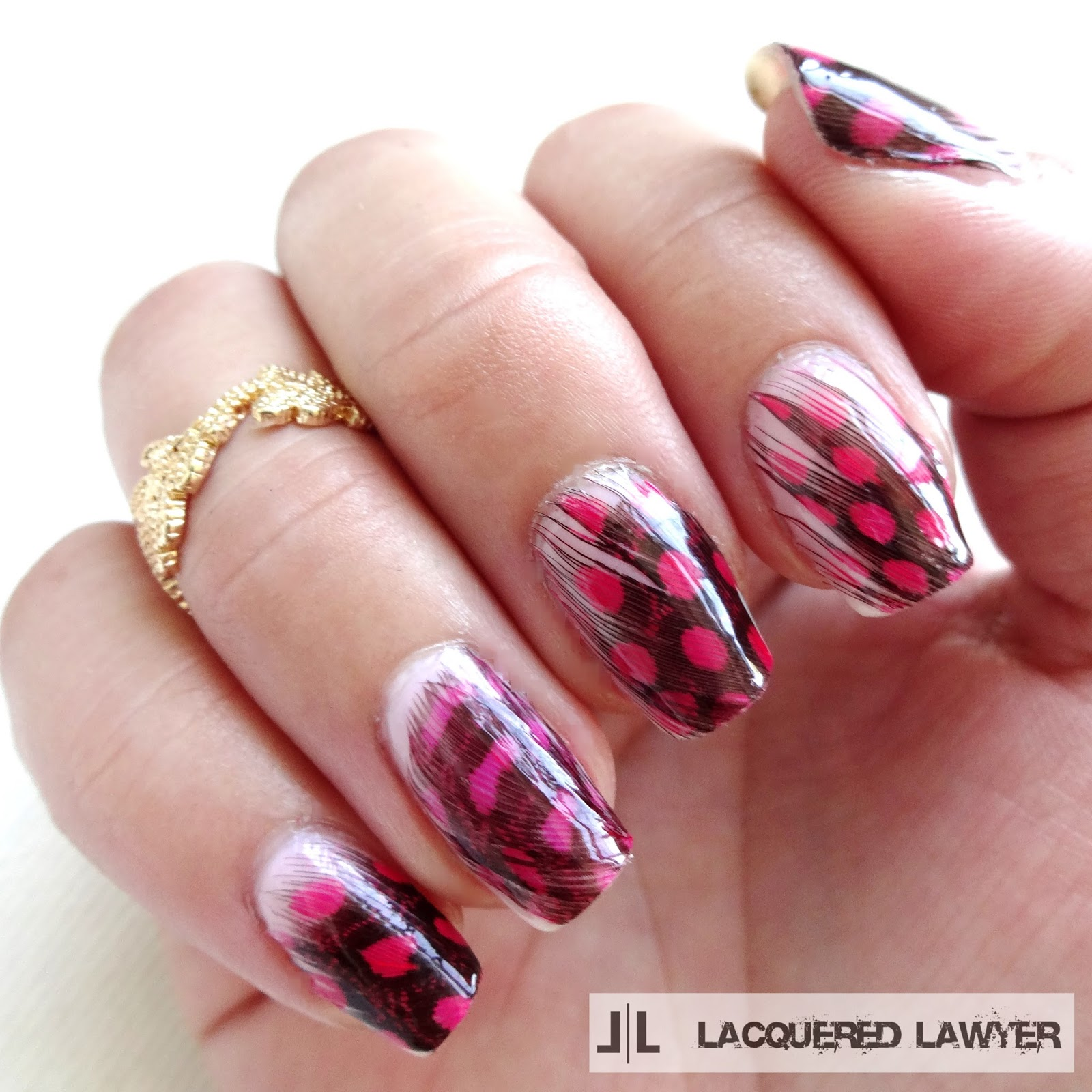 Real Feather Nail Art