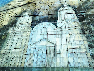 Mural da Iglesia de San Francisco na Calle Ituzaingó, em Frente à Plaza Pedro del Castillo, Cidade de Mendoza