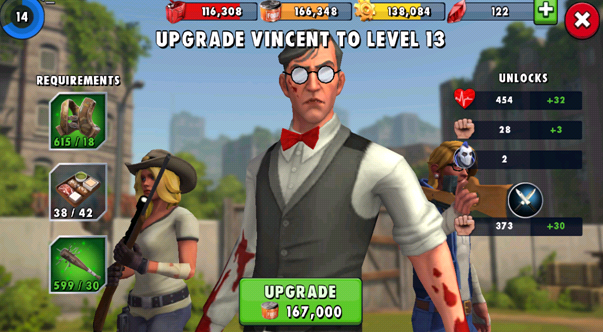 Vincent The playable characters in Zombie Anarchy