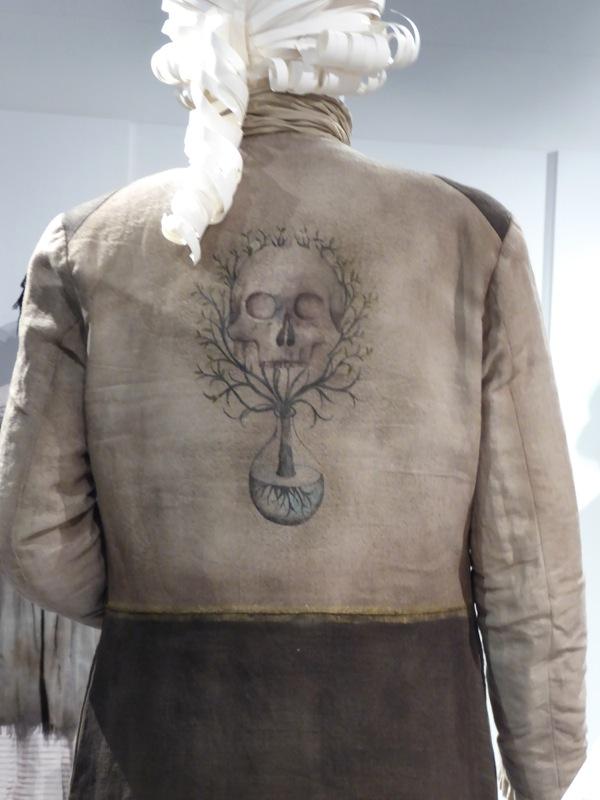 Master Raymond Outlander costume skull back detail