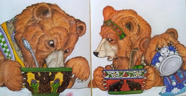 Baśnie na warsztacie, ilustracje, złotowłosa i trzy misie, trzy misie, Mateusz Świstak, warsztaty dla dzieci, sztuka opowieści