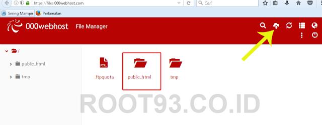 tahap upload file website ke public html