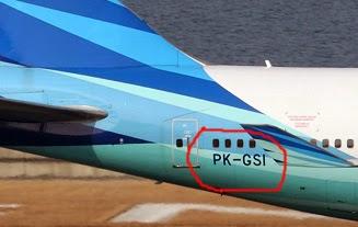 Nomor registrasi pesawat garuda PK-GSI