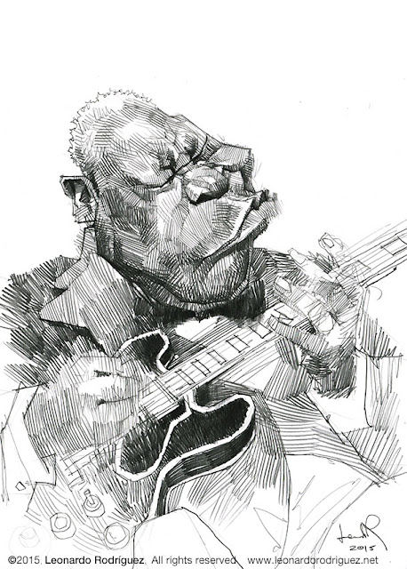caricatures in spain bb king