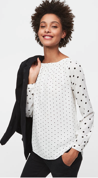 Loft Dot Blouse