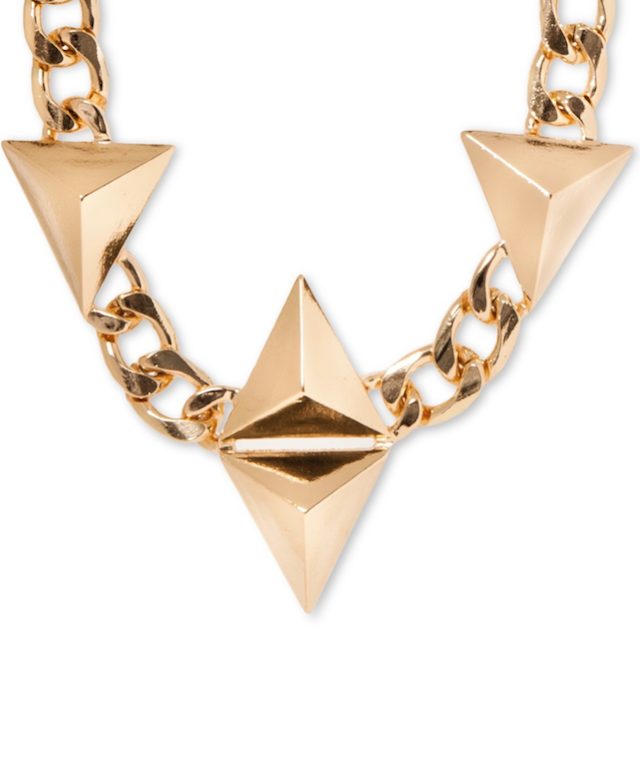 8 Other Reasons Necklace with Pyramidal Pendants Chain gold