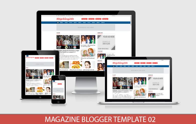 Magazine Blogger Template 02