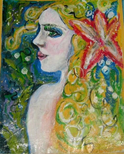 Melindas Fabric Fancies Mermaid Paintings